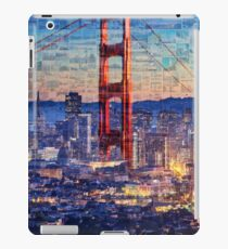San Francisco Sky Line and the Golden Gate Bridge iPad Case/Skin
