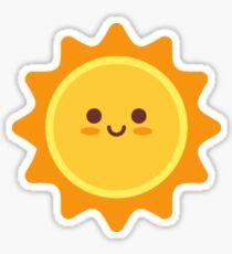Happy Smiling Sun Emoticon Sticker