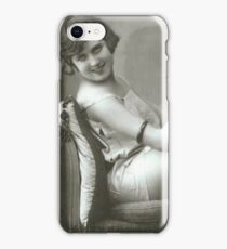 1920's Lady reclining on Chair vintage photograph iPhone Case/Skin