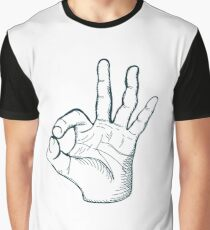 Hand drawn sketch vintage ok sign Graphic T-Shirt