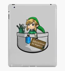 "Zelda ""Will Cut Grass For Rupees"" iPad Case/Skin"