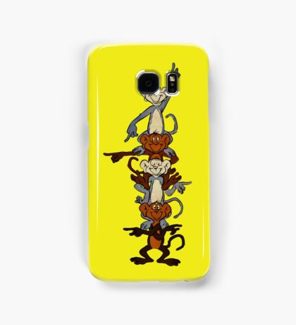 Totem Pole Monkeys Samsung Galaxy Case/Skin