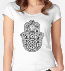 Buddhist hand Women's Fitted Scoop T-Shirt