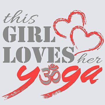 This Girl Loves her YOGA by HomeTimeArt