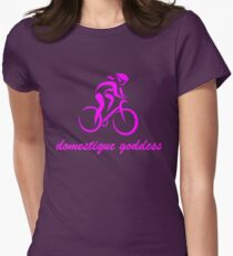 Domestique goddess pink Womens Fitted T-Shirt