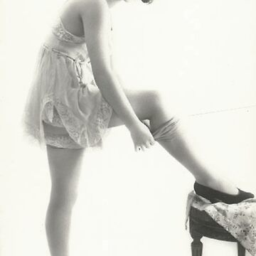 20's Lady adjusting her stockings vintage photograph by ClassicNudes