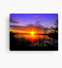 Sunset Over Jordan Canvas Print