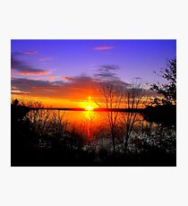 Sunset Over Jordan Photographic Print