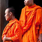 Cambodian Monks by phil decocco