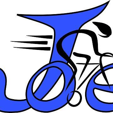 Joe bike blue by JoeBike