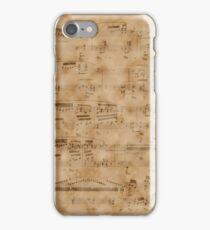 Vintage Music Sheet Page  iPhone Case/Skin