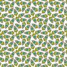 autumn leaves pattern green tones by artherapieca