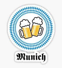 Munich 2 Beer (Bavaria Germany) Sticker