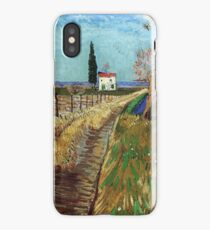 Vincent Van Gogh - Path Through A Field With Willows, 1888 iPhone Case/Skin