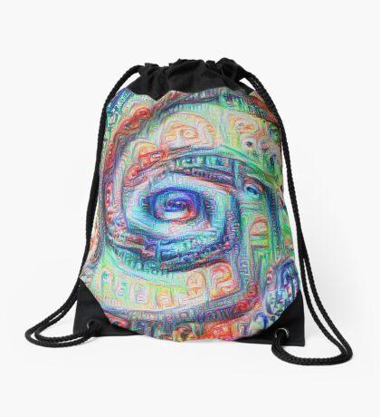 Vortex dragon #DeepDream A Drawstring Bag