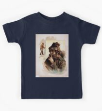 Performing Arts Posters Half length image of bearded tramp in hat touching finger to nose with full length image of same tramp to the left 1550 Kids Tee