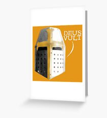 deus vult II Greeting Card
