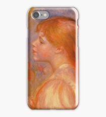 Renoir Auguste - Girl With A Red Hair Ribbon 1891 iPhone Case/Skin