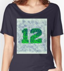 Abstract Team Spirit - Blue On Green Women's Relaxed Fit T-Shirt