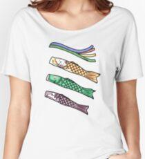 Koinobori - Japanese carp-shaped wind socks Women's Relaxed Fit T-Shirt