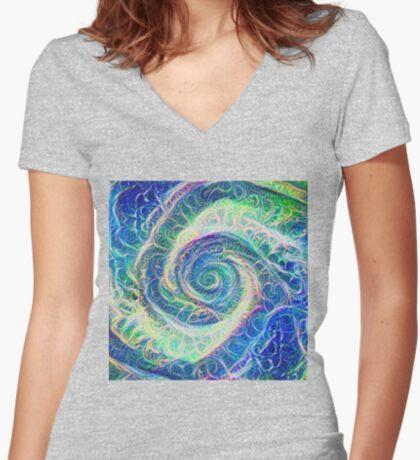 Vortex dragon #DeepDream B Fitted V-Neck T-Shirt