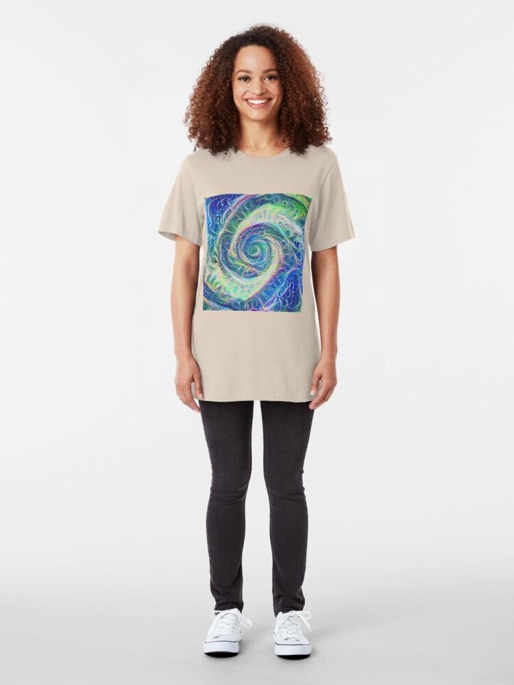 Alternate view of Vortex dragon #DeepDream B Slim Fit T-Shirt