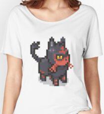 POKEMON LITTEN Pixel Spritelike Women's Relaxed Fit T-Shirt