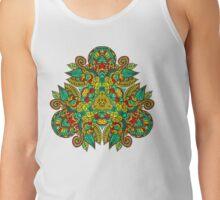 Mandala en triangle, feuilles d'automne T-shirt
