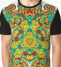 Mandala in triangle, autumn leaves Graphic T-Shirt