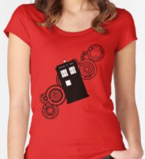 doctor who tardis r Women's Fitted Scoop T-Shirt