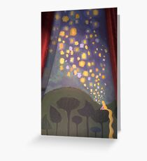 The Floating Lights Greeting Card