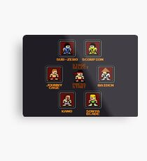 8-bit Mortal Kombat 'Megaman' Stage Select Screen Metal Print
