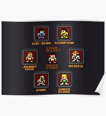8-bit Mortal Kombat 'Megaman' Stage Select Screen Poster