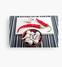 Spice background for cooking Canvas Print