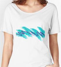 SOLO JAZZ CUP Shirt 1990s T-shirt Blue Women's Relaxed Fit T-Shirt