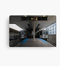 CTA Brown Line Canvas Print