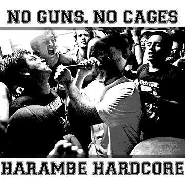 Harambe Hardcore - Black Text by daltonh