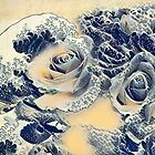 Sea of Roses - hommage to Hokusai by © Kira Bodensted