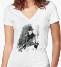 Rachmaninoff Sergei Women's Fitted V-Neck T-Shirt