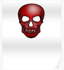 Red Skull Pattern Poster