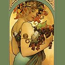 Alphonse Mucha Painting by cinn