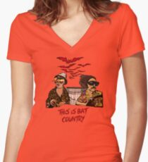 Bat country Women's Fitted V-Neck T-Shirt