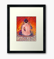 Acupuncture Energy Framed Print