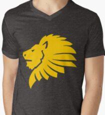 Lion Vector Men's V-Neck T-Shirt