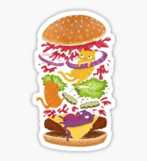 Cat Burger Sticker