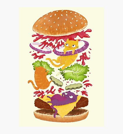 Cat Burger Photographic Print