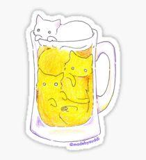 C(r)a(f)t Beer - Cat sticker Sticker