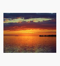 Colorful Sunset Sky Photographic Print
