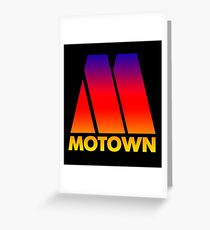 MOTOWN DISCO RECORDS (SUNSET) Greeting Card