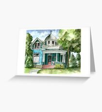 The House with Red Trim Greeting Card